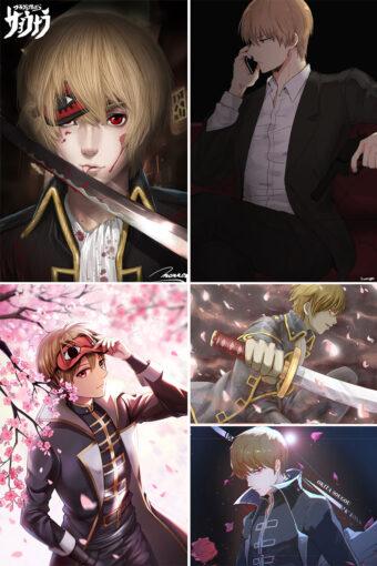Okita Sougo Anime Posters