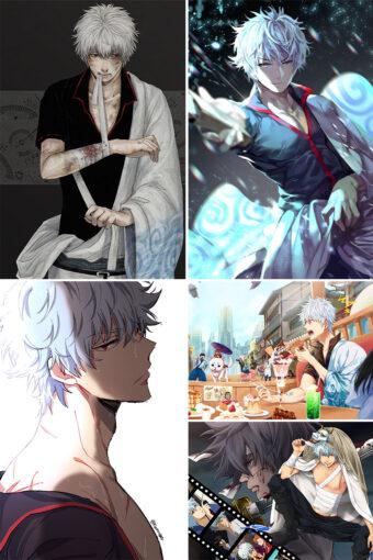 Sakata Gintoki Anime Posters Ver1