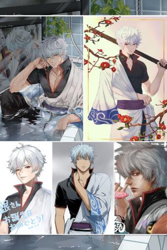Sakata Gintoki Anime Posters Ver6