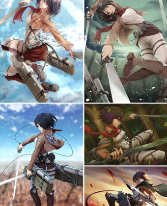 Mikasa Ackerman Anime Posters Ver1
