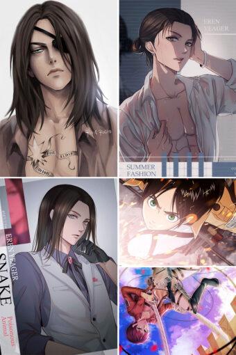 Eren Jaeger Anime Posters Ver2