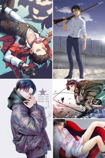 Levi Ackerman Anime Posters Ver2