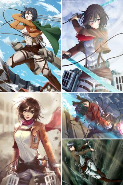Mikasa Ackerman Anime Posters Ver2