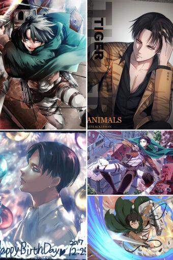 Levi Ackerman Anime Posters Ver3