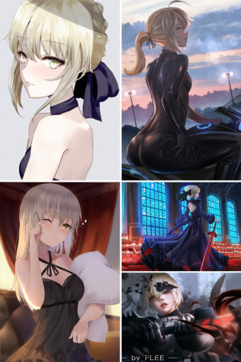 Saber Alter Anime Posters Ver1