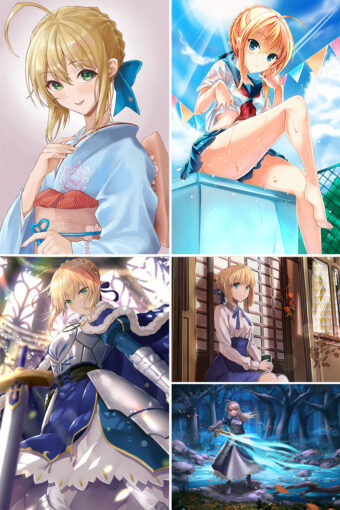 Saber Anime Posters Ver2