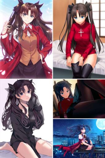 Tohsaka Rin Anime Posters Ver2