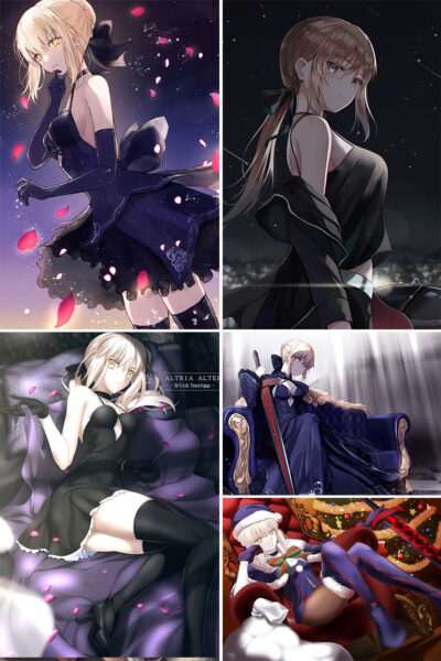 Saber Alter Anime Posters Ver3