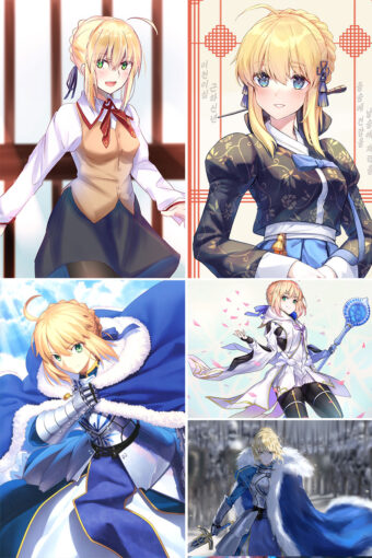 Saber Anime Posters Ver3