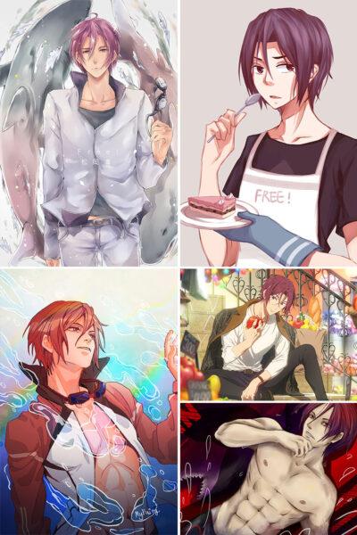 Matsuoka Rin Anime Posters Ver1