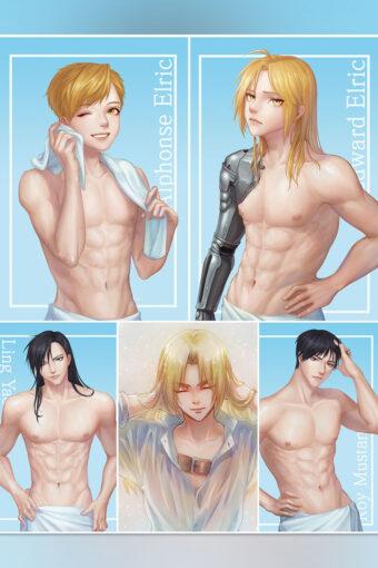Fullmetal Alchemist Brotherhood Anime Posters Ver1