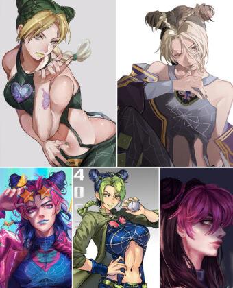 Kuujou Jolyne Anime Posters Ver3