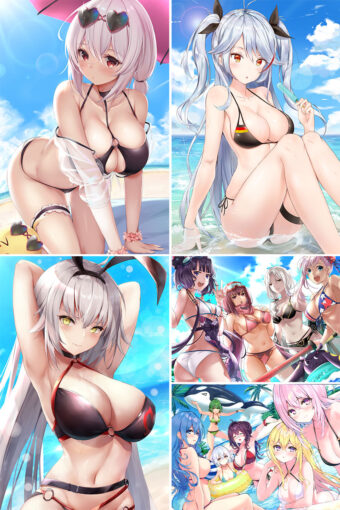 Swimsuit Girl Anime Posters Ver1
