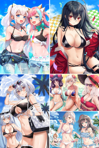 Swimsuit Girl Anime Posters Ver3