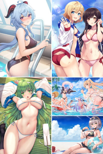 Swimsuit Girl Anime Posters Ver8