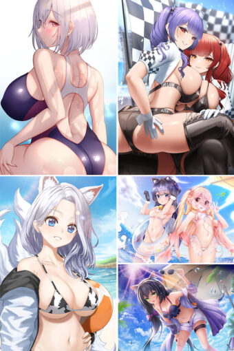 Swimsuit Girl Anime Posters Ver13